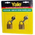 Brass Padlock. Key-alike YALE